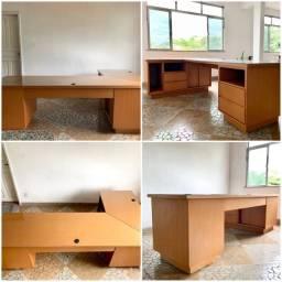 Mesa escritório 2,50 x 1,40 x 0,70