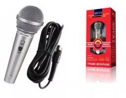 (NOVO) Microfone Profissional Qin Da Dm701 Com Cabo Músicos ou Karaoke
