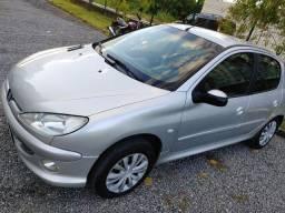 Peugeot 206 1.4 2007 completo Banco couro