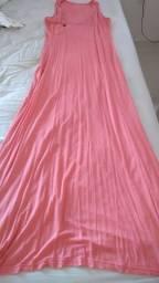 Vestido longo rosa pink lu p/m