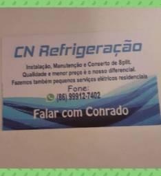 Promoção de instalação de ar condicionado Split.