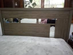 Cama box com colchão e cabeceira