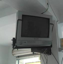 Tv tubo Panasonic 14 polegadas+ girovisão + conversor