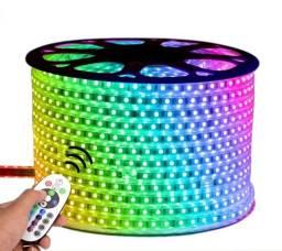 Mangueira LED rgb 5050 12 cores 220v | por metro