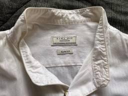 Camisa Branca Slim Zara/ Casual Chic