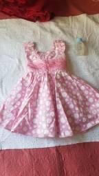 Vestido de menina rosa