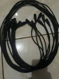 Vendo 8 cabos  pra DMX de 2 metros