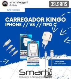 Carregador Para Iphone e Android ( Fonte + Cabo )