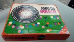 Jogo de Roleta anos 80 em perfeito estado