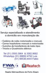 Cadeira de rodas manutenção a domicilio