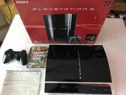 Playstation 3 Fat 40 GB Serial batendo e GTA 4