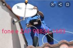 Instalação e apontamento de antenas e receptores