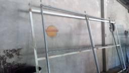Portões de correr de ferro galvanizado