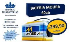 Bateria Moura 60ah nova de fábrica