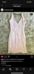 Vendo vestido rosa claro tamanho P marca FORUM