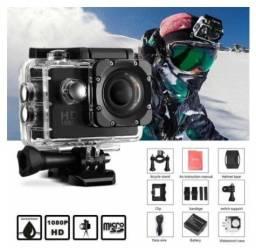 Câmera de ação Hd 1080p - 2 Polegadas - Tela Lcd - Esportiva
