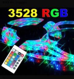 Fita Led Rgb 5 M 3528 Ip65 Com Fonte E Controle<br><br>