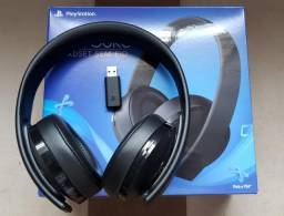 Headset Fone/Microfone Gamer Sony Série Ouro 7.1 sem fio - PS4, PS4 VR e PS3