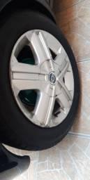 Rodas astra 15 com pneus 80%