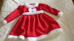 Vestido mamãe Noel infantil