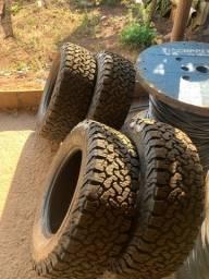 Pneus 265/ 65 r17 estado de novos pneus hillux