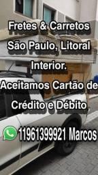 Fretes e Carretos grande São Paulo litoral interior.