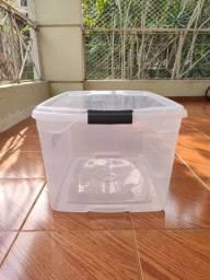 Caixa organizadora transparente 60 litros
