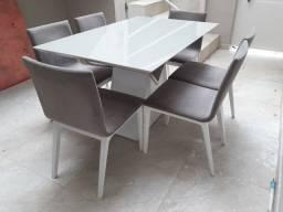 Mesa de jantar Laca e 6 cadeiras (Entrego)
