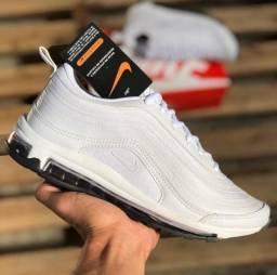 Tênis Nike Air Max 97 Todo Branco Masculino