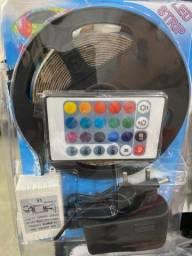 Fita led novo de 5 metros RGB modelo 3528 por 100 reais