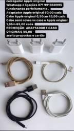 carregador e fone Apple original