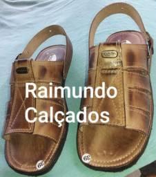 Calçados em couro legítimo