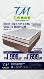 Oferta! Conj. Base + Colchão Trump Star Super King2 TRAVESSEIRO BRINDE