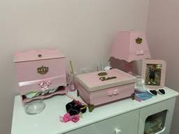Kit higiene bebê rosa coroa