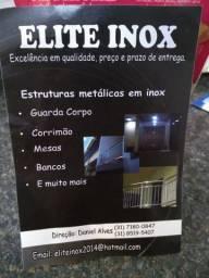 Elite inox, serviço em aço inox, corrimão, guarda-corpo, grades para janela etc.