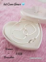 Conjuntos e Anéis Prata 925