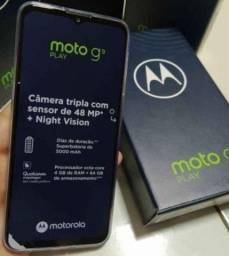 Moto G9 play novo 64G ,já vem pericula 5D