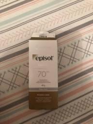 Protetor solar episol fator 70 com cor(pele clara)
