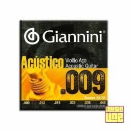 Encordoamento para Violão Aço 009 Giannini Série Acústico