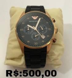 Relógio masculino Empório Armani preto Original