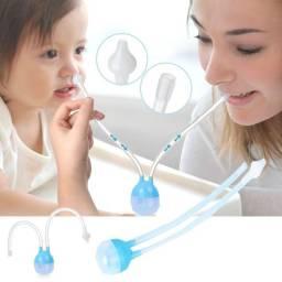 Aspirador Nasal Infantil Rosa e Azul