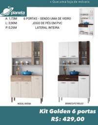 armário cozinha 6 portas promoção