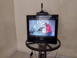 Tv Semp, com conversor e antena.