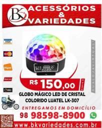 Título do anúncio: Globo Mágico Led RGP 18W De Cristal 6 Cores 800 Feixes De Luz-Luatek-306