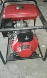 Moto gerador 7 hp branco Diesel