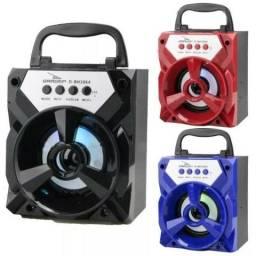 Mini Caixa De Som Caixinha Bluetooth Bateria Usb Micro Sd Rádio Fm Nova
