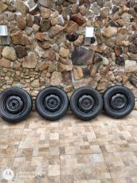 4 Rodas 13 do celta com pneus