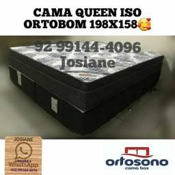 CAMA QUEEN ISO ORTOBOM FRETE GRÁTIS