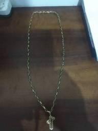 Vendo cordão de ouro 18 k modelo Cartier com crucifixo com 13gramas