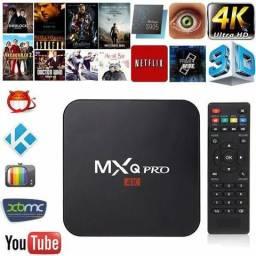 Conversor smart tv box android novo mxq pro 4K HDMI completo
